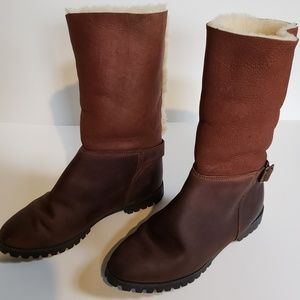 Timberland leather slip on boots Sz. 7.5 fits 7